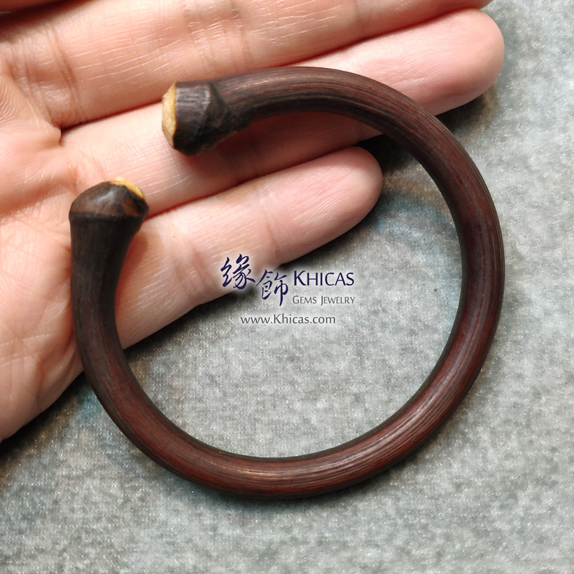 西藏雞血滕手環(圈口 54x48.3mm)Spatholobus Stem Bangle KH146778 @ Khicas Gems Jewelry 緣飾天然水晶