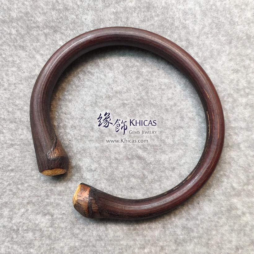 西藏雞血滕手環(圈口 60x55.6mm)Spatholobus Stem Bangle KH146784 @ Khicas Gems Jewelry 緣飾天然水晶