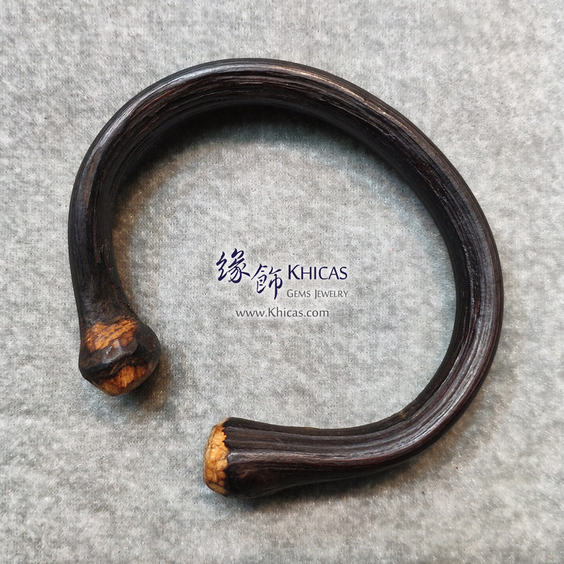 西藏雞血滕手環(圈口 63x57mm)Spatholobus Stem Bangle KH146785 @ Khicas Gems Jewelry 緣飾天然水晶