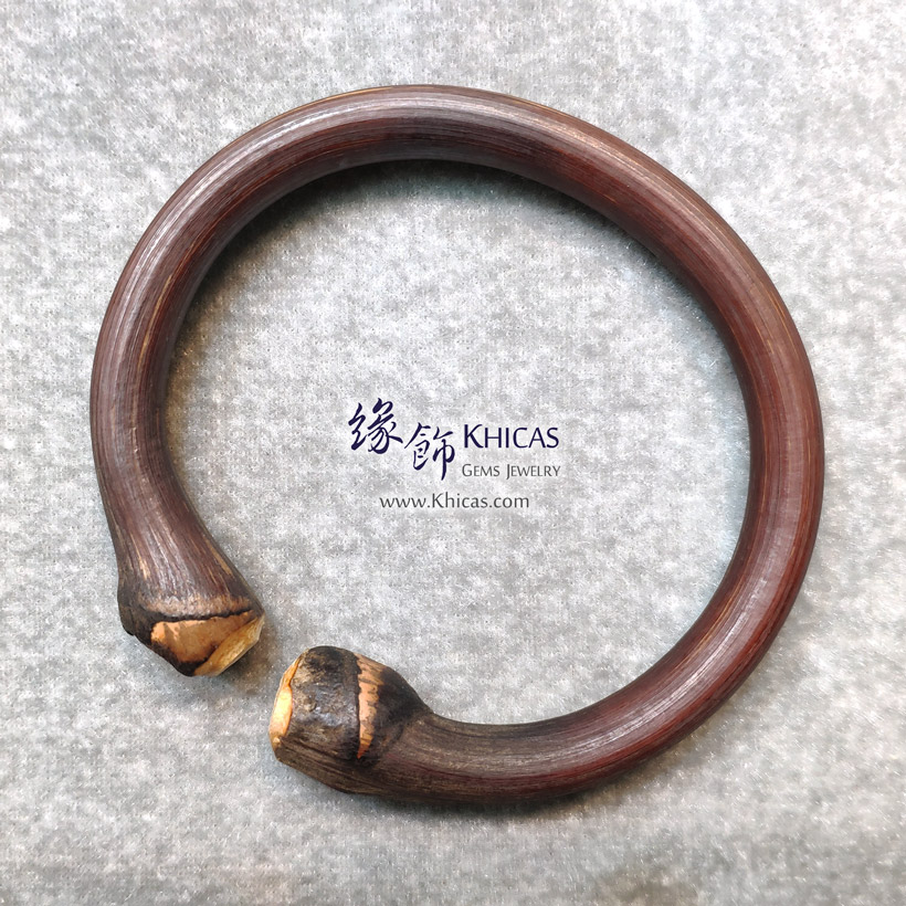 西藏雞血滕手環(圈口 66.5x58mm)Spatholobus Stem Bangle KH146788 @ Khicas Gems Jewelry 緣飾天然水晶