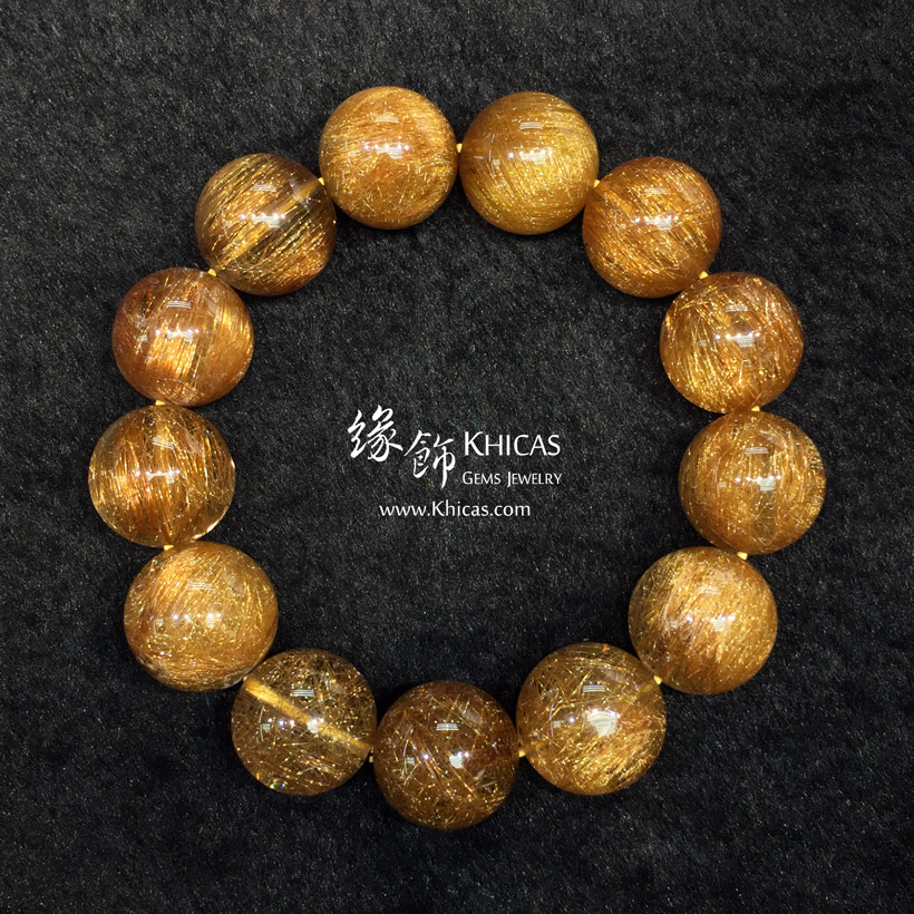 巴西 5A+ 銅髮晶手串 18mm Copper Rutilated Quartz KH146842 @ Khicas Gems Jewelry 緣飾天然水晶
