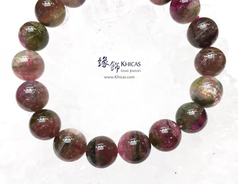 巴西 5A+ 西瓜碧璽 / 碧茜 / 電氣石手串 11.5mm Watermelon Tourmaline Bracelet KH146844 @ Khicas Gems Jewelry 緣飾天然水晶