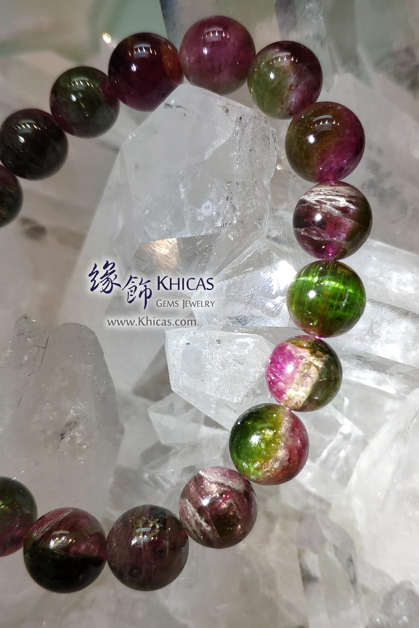 巴西 5A+ 西瓜碧璽 / 碧茜 / 電氣石手串 10.3mm Watermelon Tourmaline Bracelet KH146845 @ Khicas Gems Jewelry 緣飾天然水晶