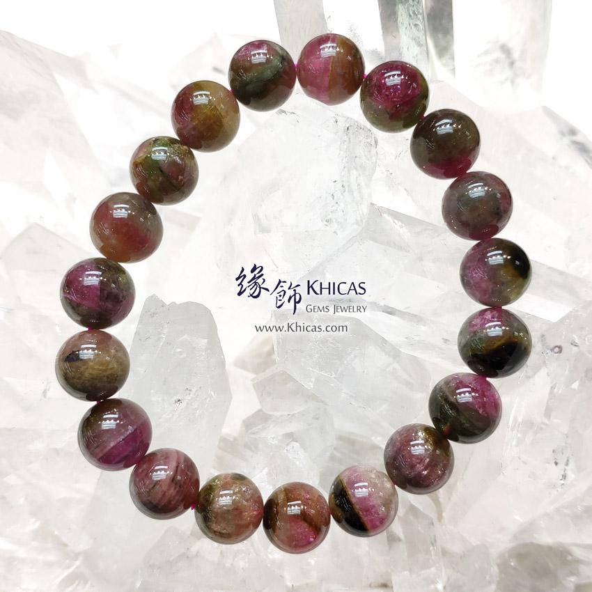 巴西 5A+ 西瓜碧璽 / 碧茜 / 電氣石手串 10.8mm Watermelon Tourmaline Bracelet KH146847 @ Khicas Gems Jewelry 緣飾天然水晶