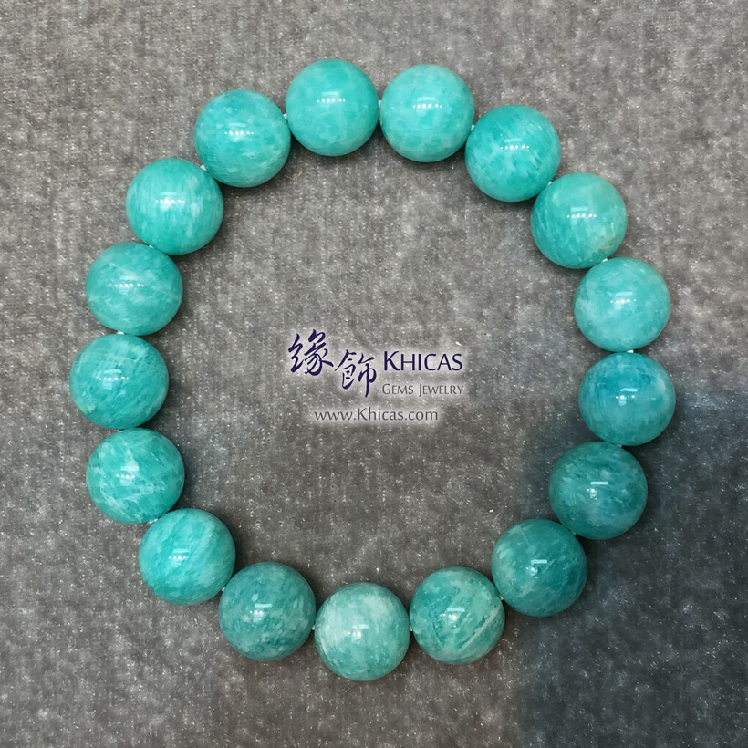 莫桑比亞 5A+ 天河石手串 12.5mm Amazonite Bracelet KH147068 @ Khicas Gems Jewelry 緣飾天然水晶