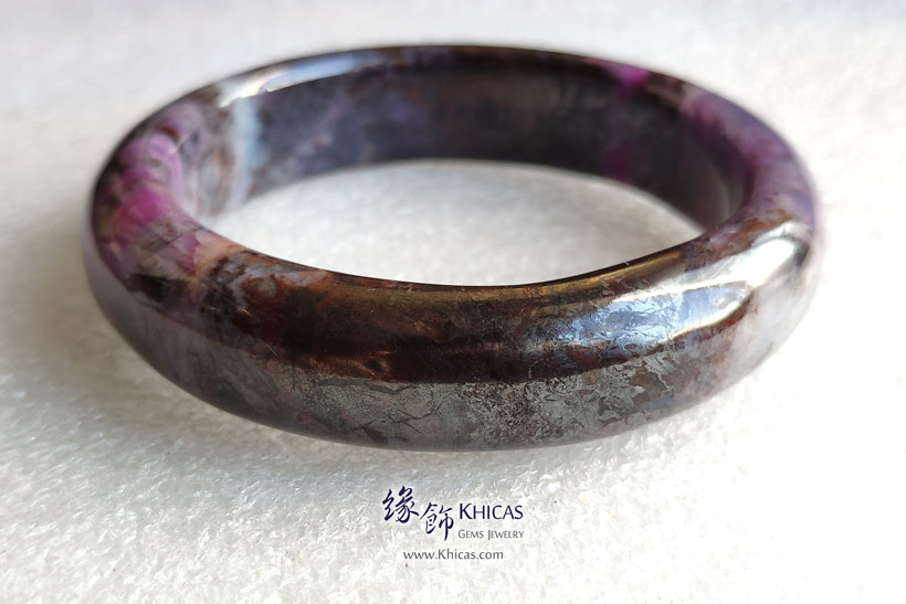 南非 4A+ 舒俱徠手鐲(內徑 56.5mm / 1.5) South Africa Sugilite Bangle KH147322 @ Khicas Gems Jewelry 緣飾天然水晶