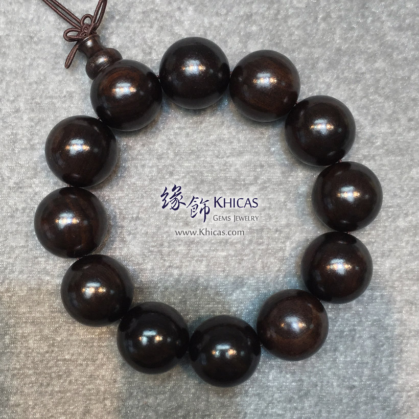 非洲黑檀木手串 20mm KH147352 @ Khicas Gems Jewelry 緣飾天然水晶