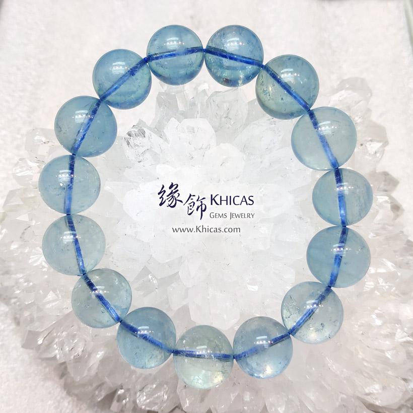 巴西 5A+ 冰透海藍寶手串 14.5-16mm Aquamarine Bracelet KH147473 @ Khicas Gems Jewelry 緣飾天然水晶