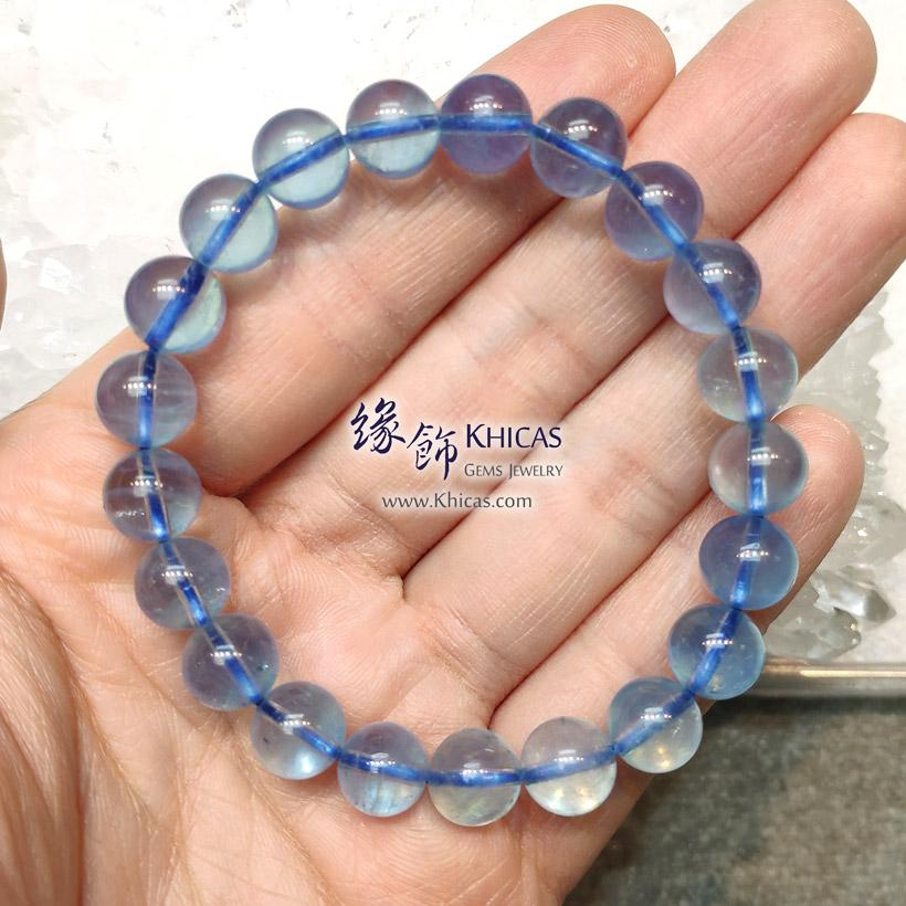 巴西 5A+ 冰透海藍寶手串 9.3mm Aquamarine Bracelet KH147474-1 @ Khicas Gems Jewelry 緣飾天然水晶