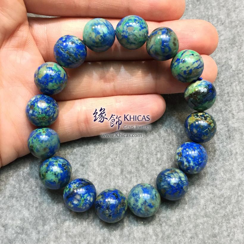 納米尼亞 5A+ 藍銅礦手串 12.8mm Azurite Bracelet KH147488-1 @ Khicas Gems Jewelry 緣飾天然水晶