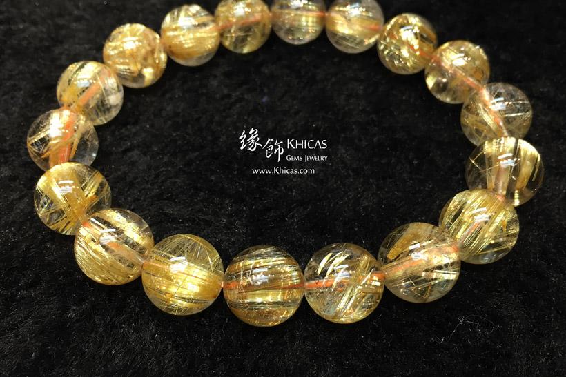 巴西 5A+ 玻璃種金鈦晶手串 11.5mm Gold Rutilated Bracelet KH147507 @ Khicas Gems 緣飾天然水晶