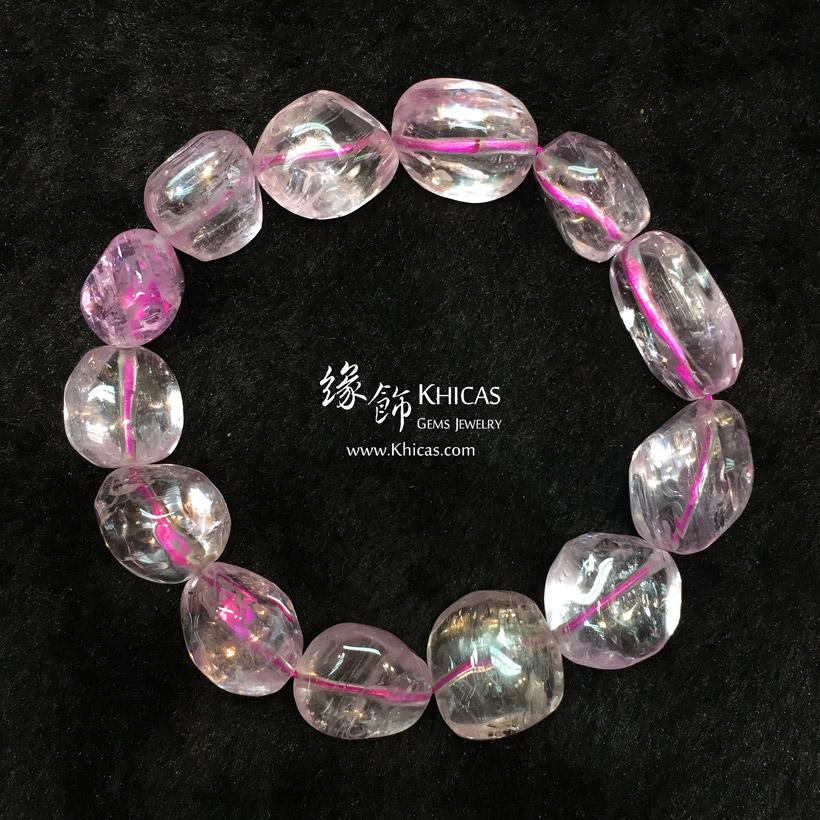 巴西 5A+ 紫鋰輝不定形手串 Kunzite Bracelet KH147510 @ Khicas Gems Jewelry 緣飾天然水晶
