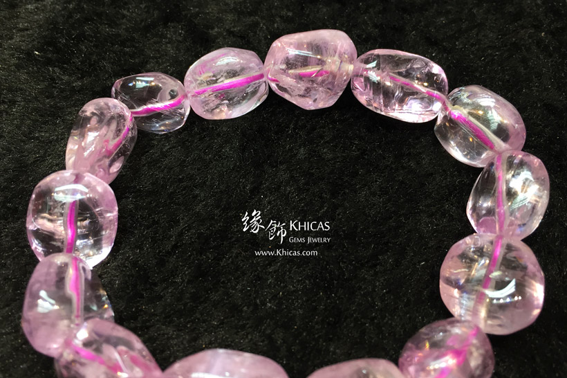 巴西 5A+ 紫鋰輝不定形手串 Kunzite Bracelet KH147511 @ Khicas Gems Jewelry 緣飾天然水晶