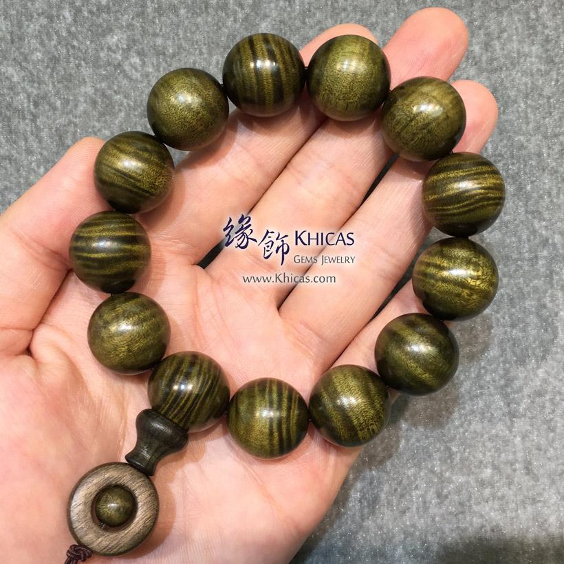 四川陰沉金絲楠木特大佛珠手串 18mm KH147852 @ Khicas Gems Jewelry 緣飾天然水晶