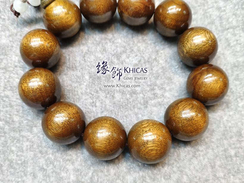 四川陰沉金絲楠木特大佛珠手串 20mm KH147853 @ Khicas Gems Jewelry 緣飾天然水晶
