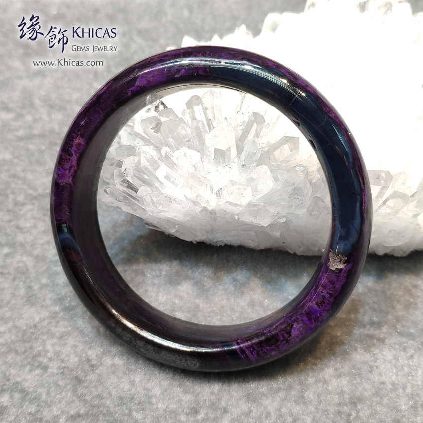 南非 4A+ 舒俱徠手鐲(內徑 56mm / 1.5) South Africa Sugilite Bangle KH147992 @ Khicas Gems Jewelry 緣飾天然水晶