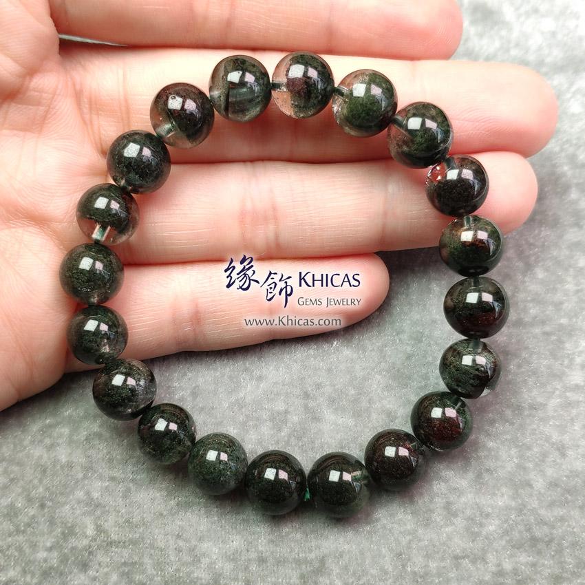 巴西 4A+ 綠幽靈手串 10mm Green Phantom Bracelet KH148040 @ Khicas Gems Jewelry 緣飾天然水晶