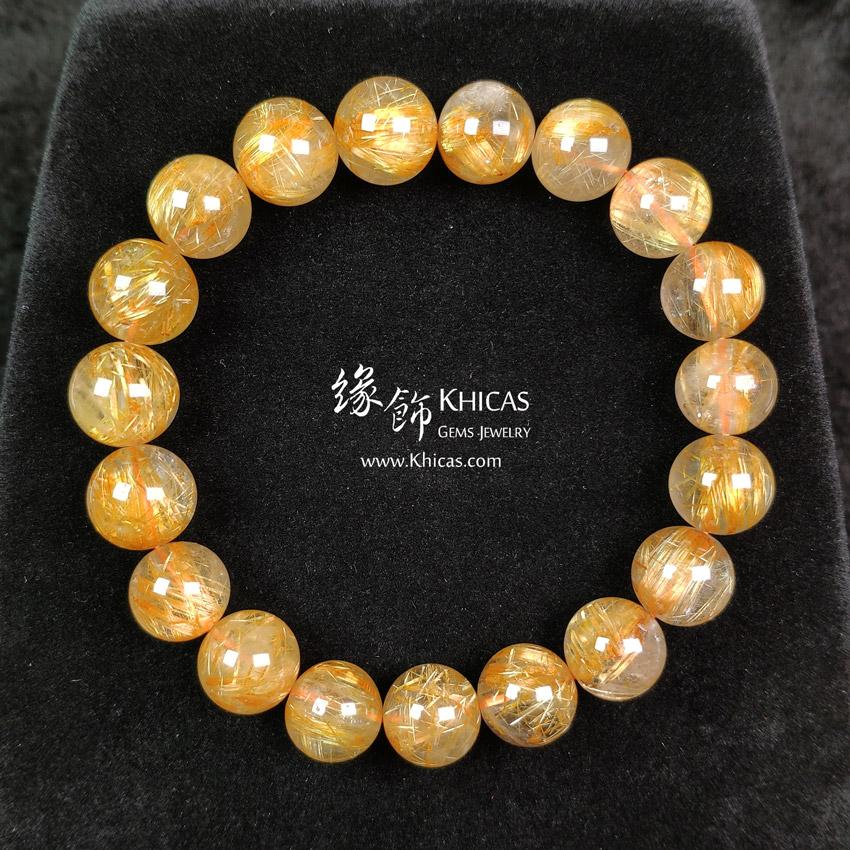 巴西 5A+ 金鈦晶手串 11.3mm Gold Rutilated Bracelet KH148051 @ Khicas Gems 緣飾天然水晶