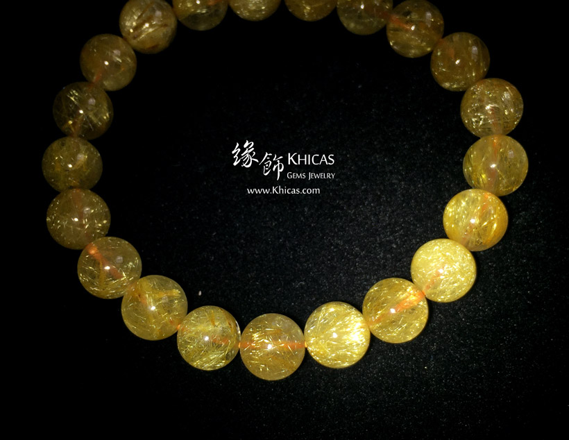 巴西 5A+ 金鈦晶手串 9.1mm Gold Rutilated Bracelet KH148056 @ Khicas Gems 緣飾天然水晶