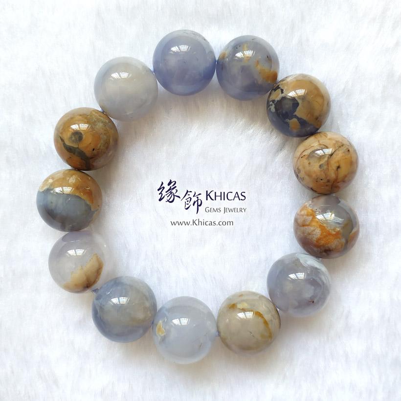 阿根廷藍玉髓手串 16.5mm+/- Blue Chalcedony Bracelet KH148066-1 @ Khicas Gems Jewelry 緣飾天然水晶