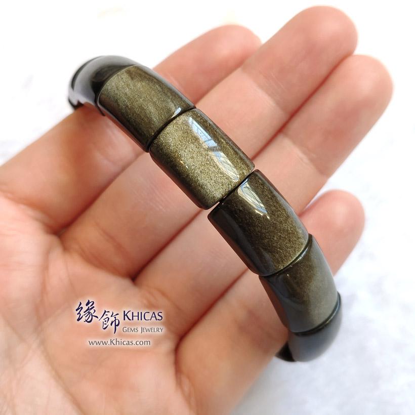 墨西哥金曜石長形手排 Golden Obsidian Bracelet KH148109 @ @ Khicas Gems Jewelry 緣飾天然水晶