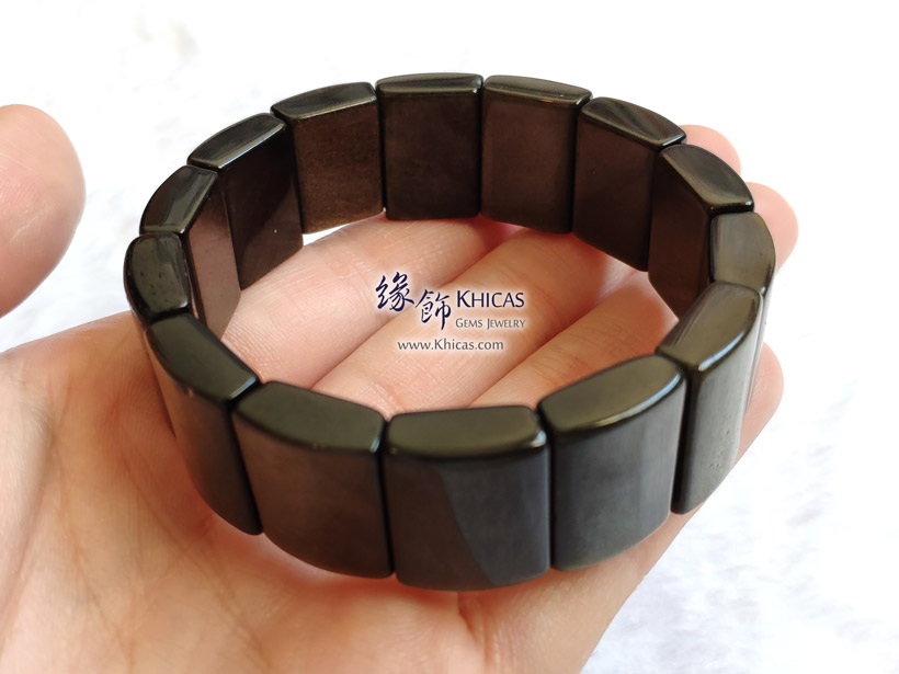 墨西哥金曜石方形手排 Golden Obsidian Bracelet KH148110 @ Khicas Gems Jewelry 緣飾天然水晶