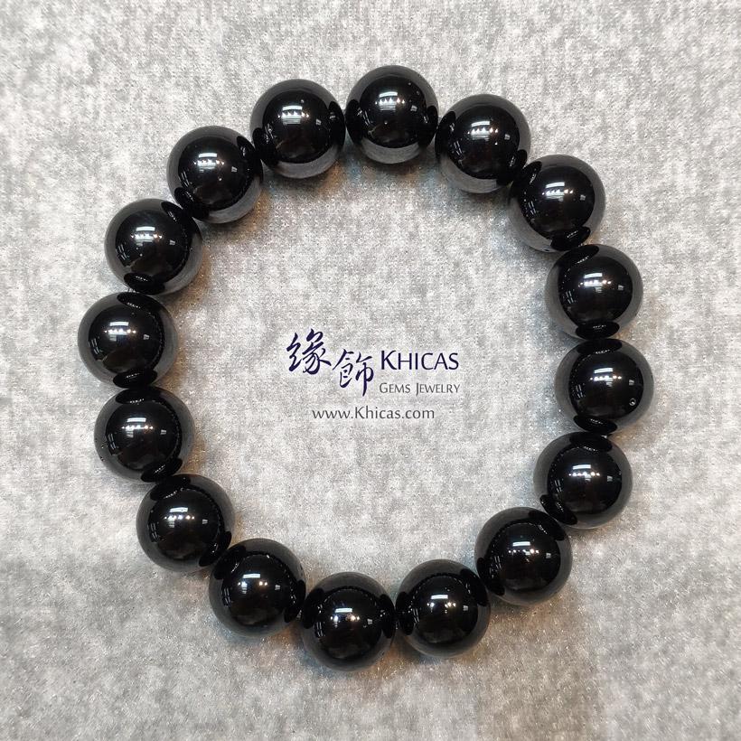 俄羅斯黑隕石手串 12mm Tektite bracelet KH148188 @ Khicas Gems Jewelry 緣飾天然水晶