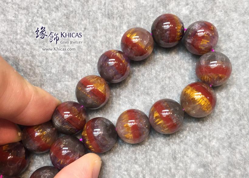 加拿大 5A+ 超金極光23 Auralite-23 水晶手串 13.6mm KH148195 @ Khicas Gems Jewelry 緣飾天然水晶