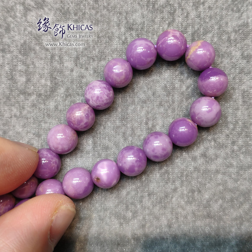 美國 3A+ 紫雲母手串 8.2mm+/- Purple Mica Bracelet KH148492 @ Khicas Gems Jewelry 緣飾天然水晶