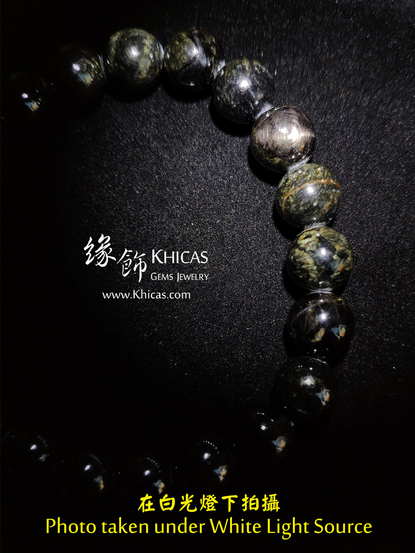 金運石 / 黑銀線石手串 9.5mm Hypersthene Bracelet KH148618 @ Khicas Gems Jewelry 緣飾天然水晶