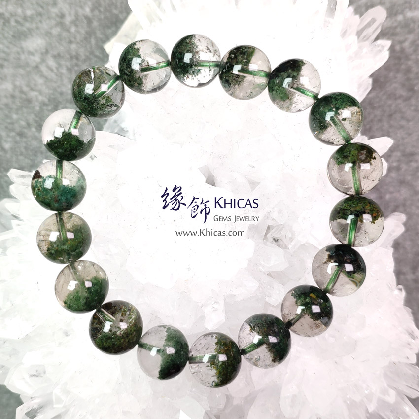 巴西 5A+ 聚寶盆綠幽靈手串 11.2mm Green Phantom Bracelet KH148660 @ Khicas Gems Jewelry 緣飾天然水晶