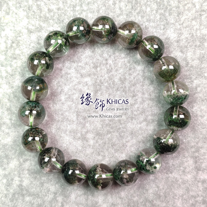 巴西 5A+ 聚寶盆綠幽靈手串 11.2mm Green Phantom Bracelet KH148661 @ Khicas Gems Jewelry 緣飾天然水晶