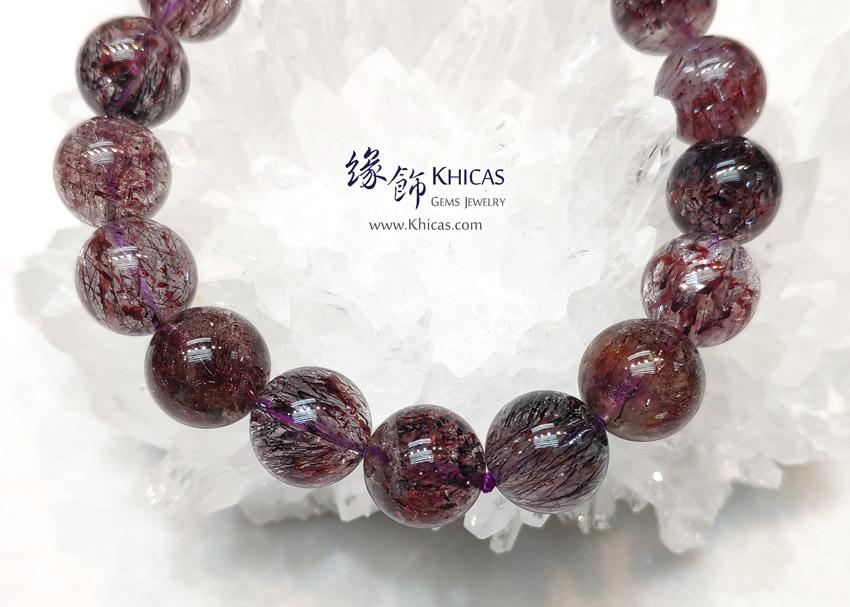 巴西 5A+ 黑紅超級七 / 黑紅超七 / Super-7 / 三輪骨幹手串 12mm KH148682 @ Khicas Gems Jewelry 緣飾天然水晶