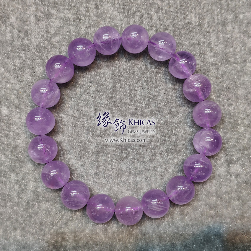 巴西薰衣草紫晶手串 11mm Lavender Amethyst Bracelet KH148687 @ Khicas Gems Jewelry 緣飾天然水晶