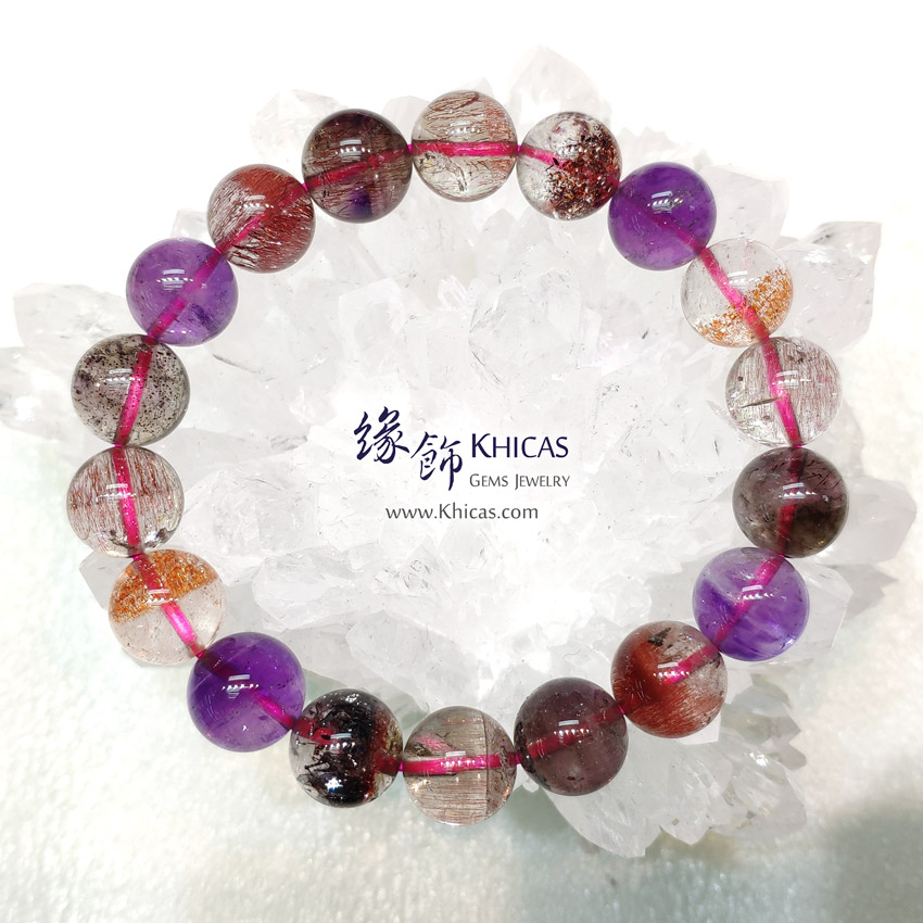 4A+ 巴西 超級七 / Super Seven / Super7 / 三輪骨幹手串 11mm KH148688 @ Khicas Gems Jewelry 緣飾天然水晶