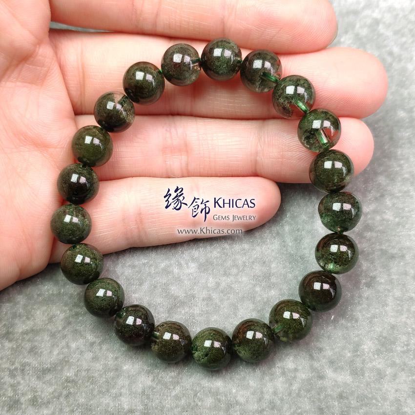 巴西 5A+ 滿盆綠幽靈手串 9.2mm Green Phantom Bracelet KH148928 @ Khicas Gems Jewelry 緣飾天然水晶