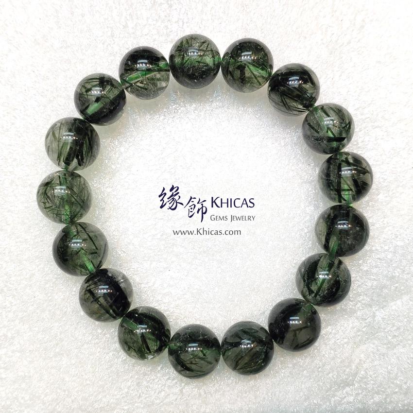 巴西 4A+ 粗髮綠髮晶手串 11.7mm Green Rutilated Quartz KH148947 @ Khicas Gems Jewelry 緣飾天然水晶