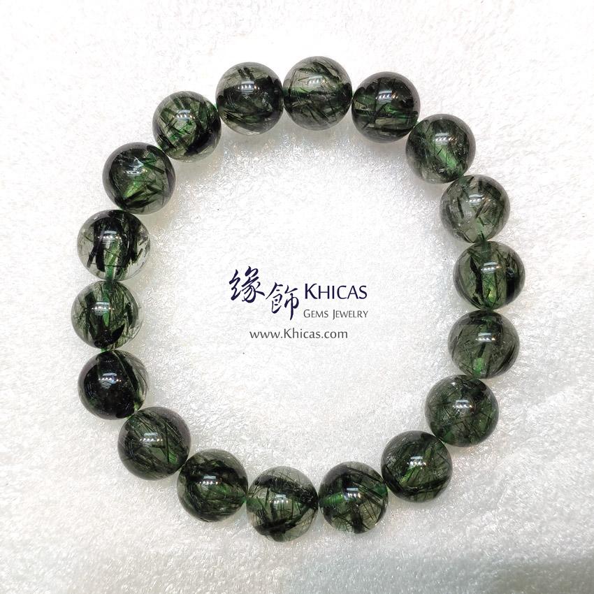 巴西 4A+ 粗髮綠髮晶手串 11.4mm Green Rutilated Quartz KH148948 @ Khicas Gems Jewelry 緣飾天然水晶