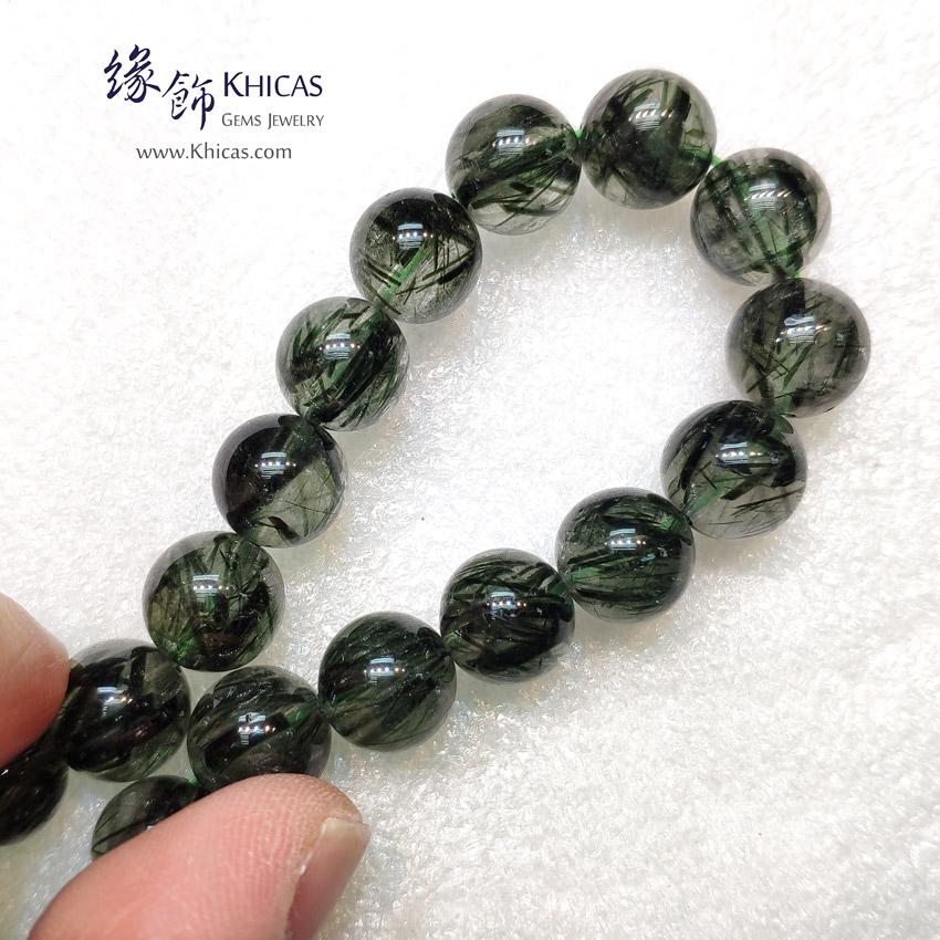 巴西 4A+ 粗髮綠髮晶手串 10.7mm Green Rutilated Quartz KH148949 @ Khicas Gems Jewelry 緣飾天然水晶