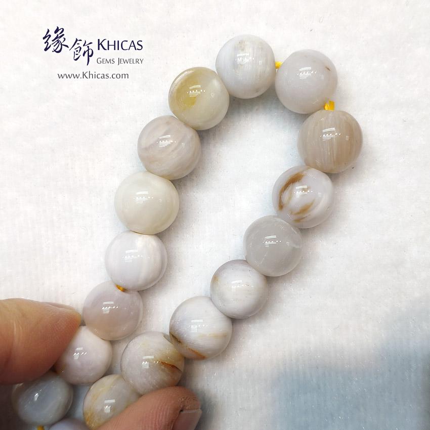 緬甸 木化玉 / 玉化木化石 小橢圓形珠手串 11.5mm+/- Petrified Wood Fossil Bracelet KH149202 @ Khicas Gems Jewelry 緣飾天然水晶