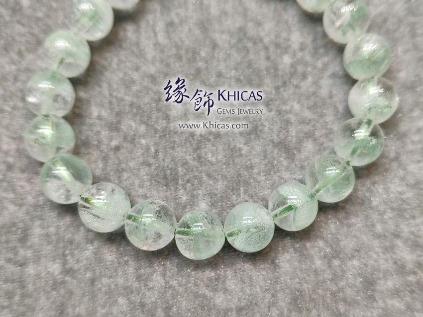 馬達加斯加 4A+ 翠綠幽靈金字塔手串 9.2mm Green Phantom KH149213 @ Khicas Gems Jewelry 緣飾天然水晶