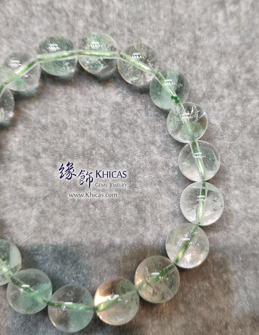 馬達加斯加 4A+ 翠綠幽靈手串 11.3mm Green Phantom KH149214 @ Khicas Gems Jewelry 緣飾天然水晶