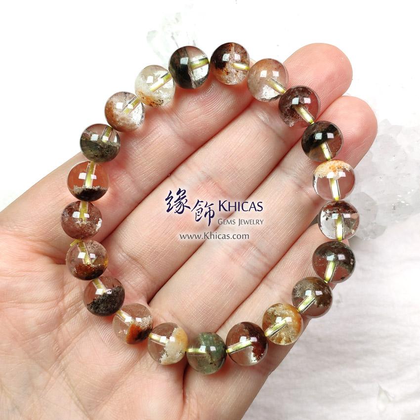 巴西 5A+ 彩幽靈聚寶盆手串 9mm+/- Phantom Bracelet KH149414-1 @ Khicas Gems Jewelry 緣飾天然水晶