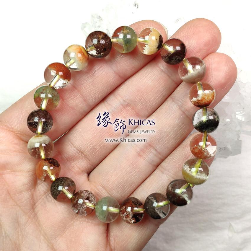 巴西 5A+ 彩幽靈聚寶盆手串 9mm+/- Phantom Bracelet KH149414-2 @ Khicas Gems Jewelry 緣飾天然水晶