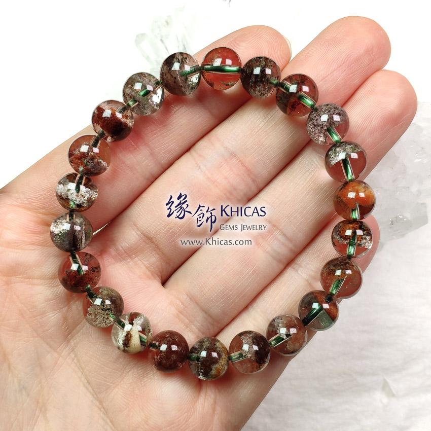 巴西 5A+ 彩幽靈聚寶盆手串 8.6mm+/- Phantom Bracelet KH149415 @ Khicas Gems Jewelry 緣飾天然水晶