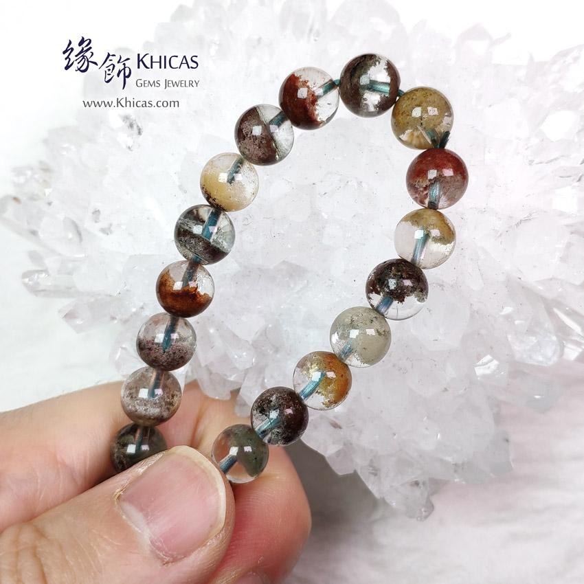 巴西 5A+ 彩幽靈聚寶盆手串 8mm+/- Phantom Bracelet KH149416 @ Khicas Gems Jewelry 緣飾天然水晶