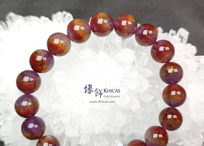 加拿大 5A+ 極光 Auralite 23 水晶帶鈦眼手串 10mm+/- KH149465 @ Khicas Gems Jewelry 緣飾天然水晶