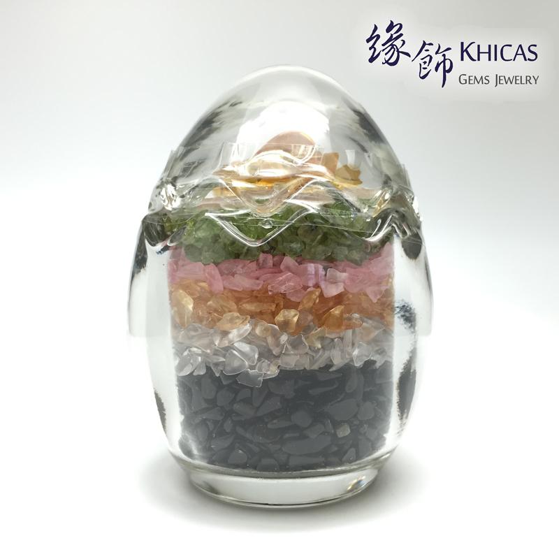 白晶碎石連玻璃罐 (松鼠形蓋) CHP150603 Khicas Gems 緣飾天然水晶