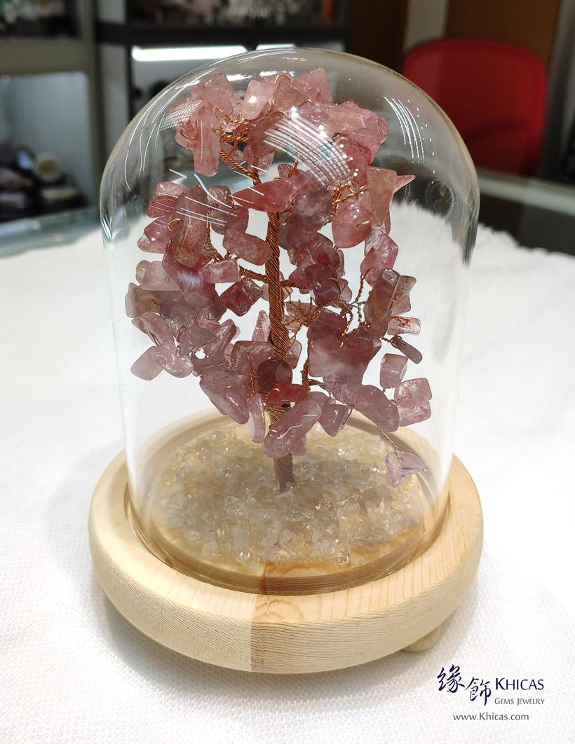 天然水晶招財樹連玻璃罩 Treasure Trees - Khicas Gems Jewelry 緣飾天然水晶