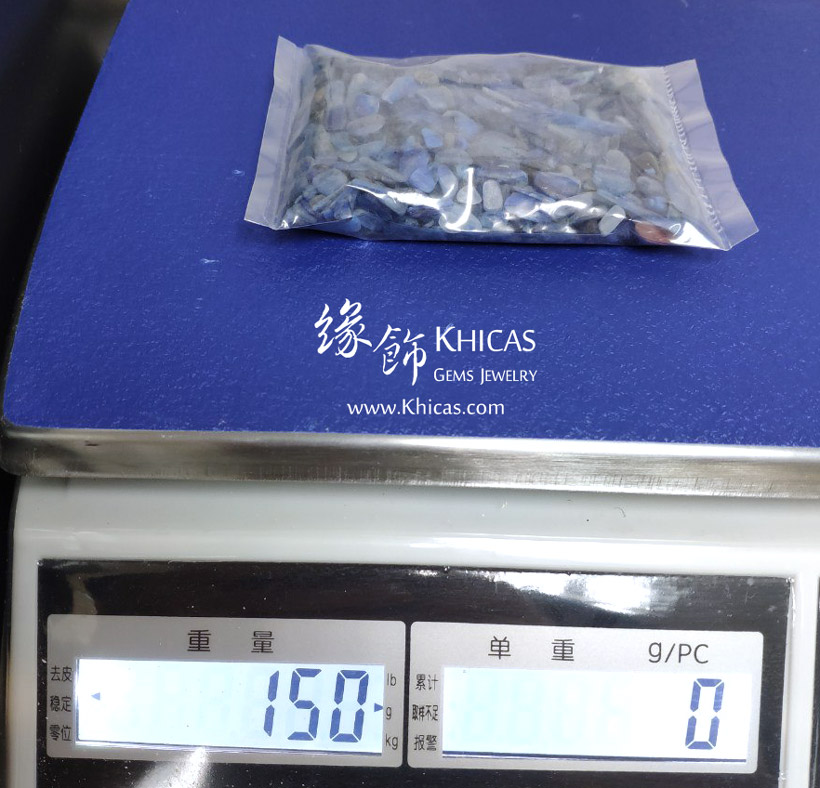 藍晶石碎石 150g Kyanite Chips CHP150620 @ Khicas Gems Jewelry 緣飾天然水晶